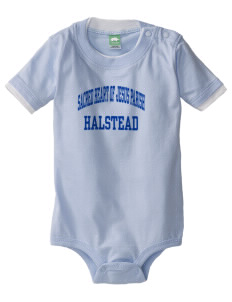 Sacred Heart of Jesus Parish Halstead Baby One-Piece with Shoulder Snaps