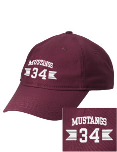 Greenfield Elementary School Mustangs  Embroidered New Era Adjustable Unstructured Cap
