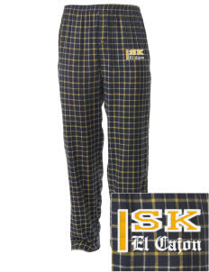 Saint Kieran El Cajon Embroidered Men's Button-Fly Collegiate Flannel Pant