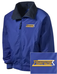 San Agustin Parish Scotts Valley Embroidered Men's Fleece-Lined Jacket