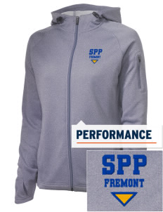 Santa Paula Parish Fremont Embroidered Women's Tech Fleece Full-Zip Hooded Jacket