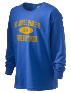 St Agnes Parish North Huntingdon Kid's 6.1 oz Long Sleeve Ultra Cotton T-Shirt