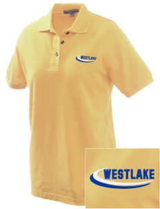 St Bernadette Church Westlake Embroidered Women's Pique Polo