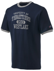 St Bernadette Church Westlake Champion Men's Ringer T-Shirt