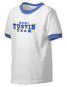 St Cecilia Parish (1957) Tustin Kid's Ringer T-Shirt