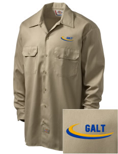 St Christopher Parish Galt Embroidered Dickies Men's Long-Sleeve Workshirt
