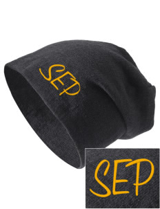 St Emydius Parish San Francisco Embroidered Slouch Beanie