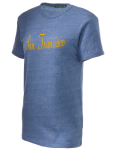 St Emydius Parish San Francisco Embroidered Alternative Unisex Eco Heather T-Shirt