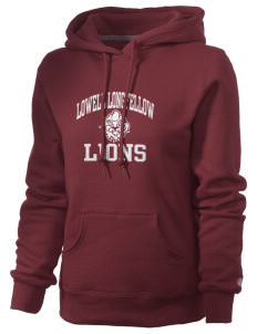Lowell Longfellow Elementary School Lions Russell Women's Pro Cotton Fleece Hooded Sweatshirt