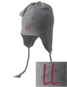 Lowell Longfellow Elementary School Lions Embroidered Knit Hat with Earflaps