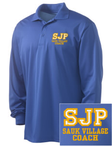 St James Parish Sauk Village Embroidered Men's Long Sleeve Micropique Sport-Wick Sport Shirt