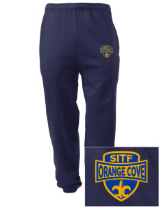 St Isadore The Farmer Parish Orange Cove Embroidered Men's Sweatpants with Pockets