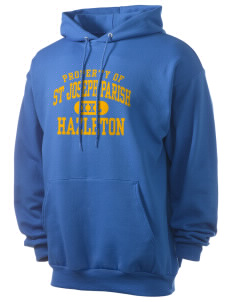 St Joseph Parish Hazleton Men's 7.8 oz Lightweight Hooded Sweatshirt