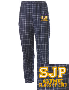 St Joseph Parish Le Mars Embroidered Men's Button-Fly Collegiate Flannel Pant