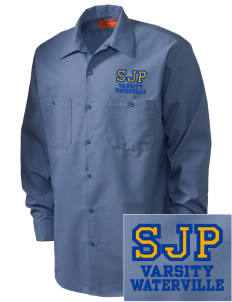 St Joseph Parish Waterville Embroidered Men's Industrial Work Shirt - Regular