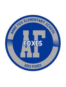 Anne Fox Elementary School Foxes Sticker