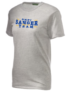 St Katherine Parish (Del Rey) Sanger Alternative Unisex Eco Heather T-Shirt