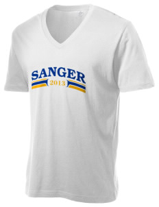 St Katherine Parish (Del Rey) Sanger Alternative Men's 3.7 oz Basic V-Neck T-Shirt