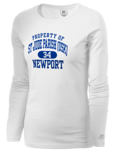 St Jude Parish (Usk) Newport  Russell Women's Long Sleeve Campus T-Shirt