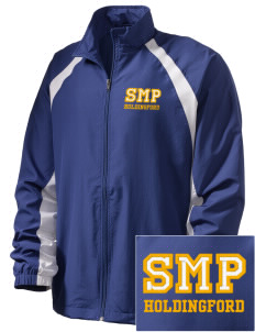St Mary Parish Holdingford  Embroidered Men's Full Zip Warm Up Jacket