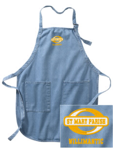 St Mary Parish Willimantic Embroidered Full-Length Apron with Pockets
