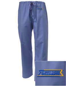 St Mary Parish Willimantic Embroidered Scrub Pants