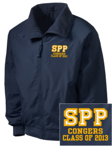 St Paul Parish Congers Embroidered Men's Fleece-Lined Jacket