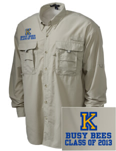 Kershaw Elementary School Busy Bees Embroidered Men's Explorer Shirt with Pockets