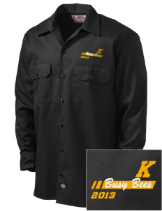 Kershaw Elementary School Busy Bees Embroidered Dickies Men's Long-Sleeve Workshirt