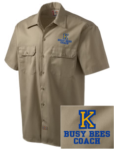 Kershaw Elementary School Busy Bees Embroidered Dickies Men's Short-Sleeve Workshirt