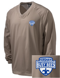 Kershaw Elementary School Busy Bees Embroidered adidas Men's ClimaProof V-Neck Wind Shirt