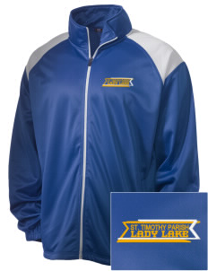 St. Timothy Parish School Lady Lake Embroidered Men's Tricot Track Jacket
