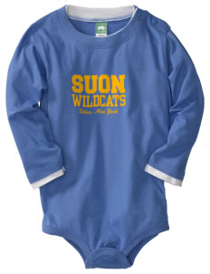 State University of New York Utica Wildcats  Baby Long Sleeve 1-Piece with Shoulder Snaps