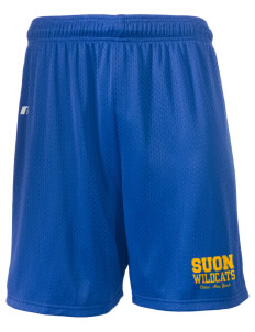 "State University of New York Utica Wildcats  Russell Men's Mesh Shorts, 7"" Inseam"