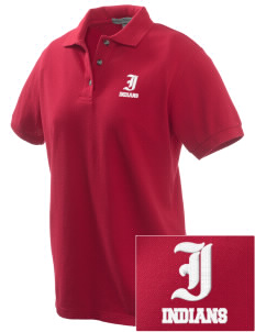 Schneider Elementary School Indians Embroidered Women's Pique Polo