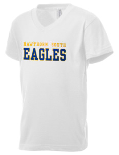 Hawthorn Elementary School South Eagles Kid's V-Neck Jersey T-Shirt