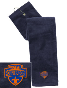Roosevelt Magnet School Rough Raiders Embroidered Hand Towel with Grommet