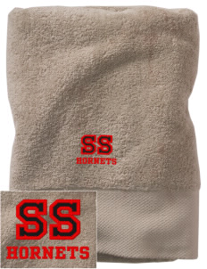 Shawnee Elementary School South Hornets Embroidered Zero Twist Resort Towel