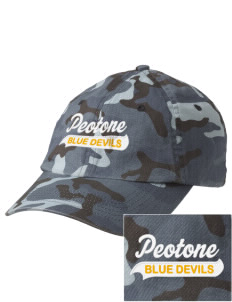 Peotone High School Blue Devils Embroidered Camouflage Cotton Cap
