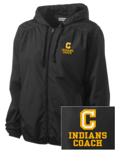 Cowan Elementary School Indians Embroidered Women's Hooded Essential Jacket