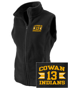 Cowan Elementary School Indians Embroidered Women's Fleece Vest