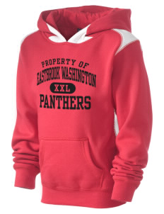 Eastbrook Washington Elementary School Panthers Kid's Pullover Hooded Sweatshirt with Contrast Color