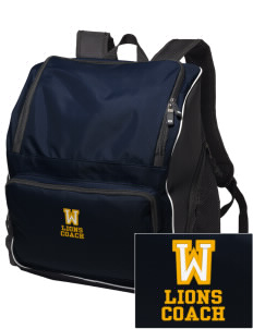 Woodbrook Elementary School Lions Embroidered Holloway Backpack