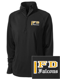 Forest Dale Elementary School Falcons Embroidered Ladies Stretched Half-Zip Pullover