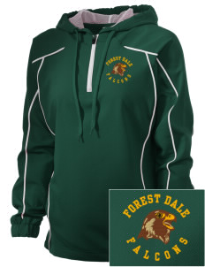 Forest Dale Elementary School Falcons Embroidered Russell Women's Prestige 1/4 Zip Jacket