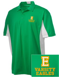 Edgewood Elementary School Eagles Embroidered Men's Side Blocked Micro Pique Polo