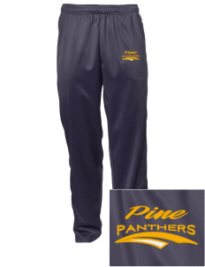 Pine Elementary School Panthers Embroidered Men's Tricot Track Pants