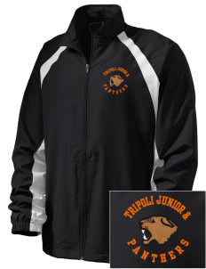 Tripoli Junior & Senior High School Panthers  Embroidered Men's Full Zip Warm Up Jacket