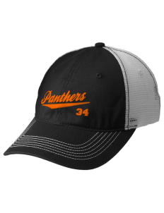 Tripoli Junior & Senior High School Panthers Embroidered Mesh Back Cap