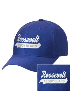 Roosevelt Elementary School Teddy Bears Embroidered Wool Adjustable Cap